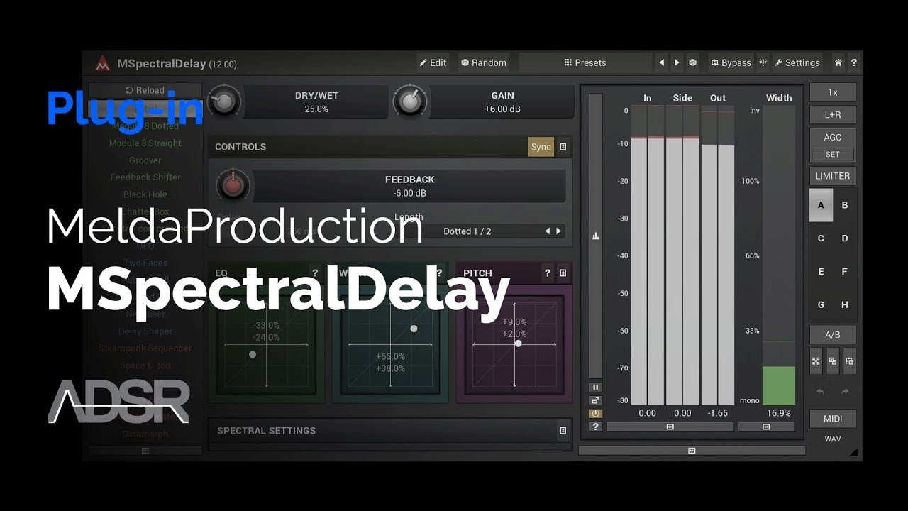 Video related to MSpectralDelay