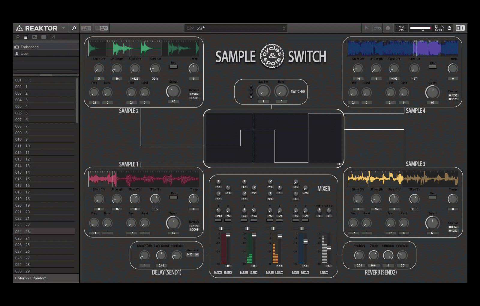 Reaktor Sample Switch