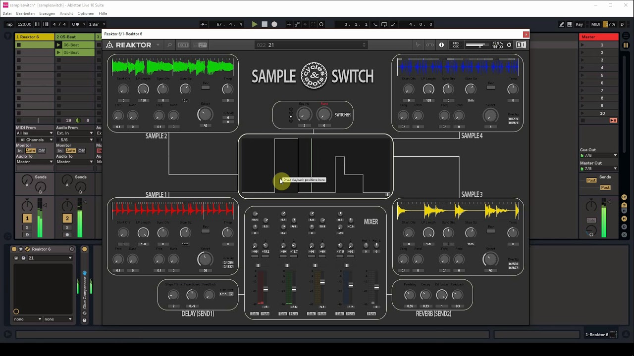 Video related to Reaktor Sample Switch