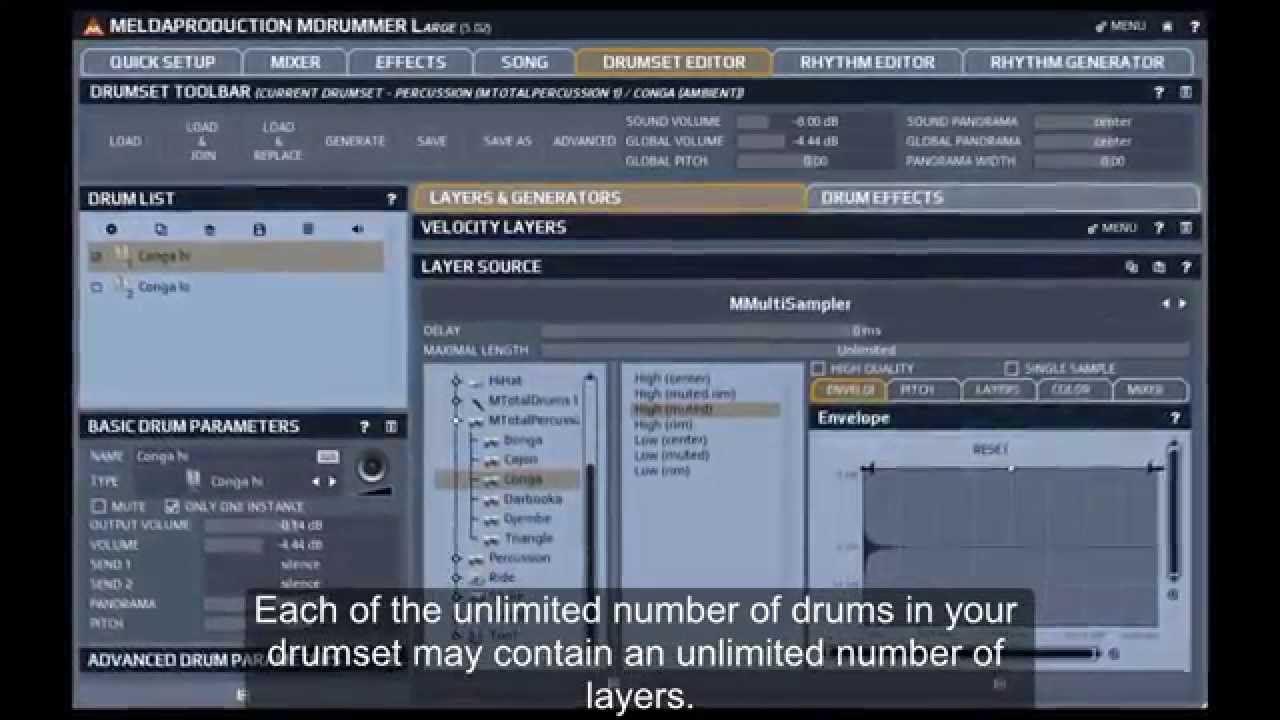 Video related to MDrummer