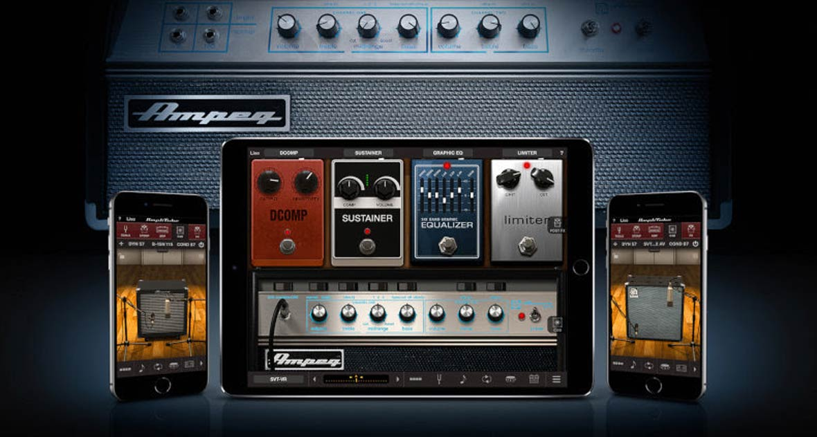 IK Multimedia Adds New Ampeg Amps To Amplitude For iPhone and iPad