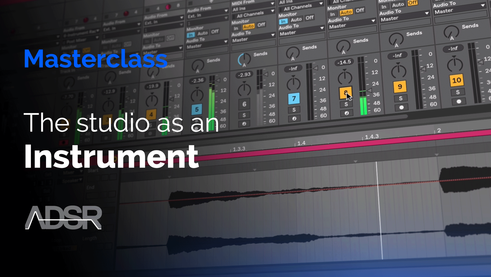 The studio as an instrument - explore classic techniques based on tape editing, effects processing and audio routing.
