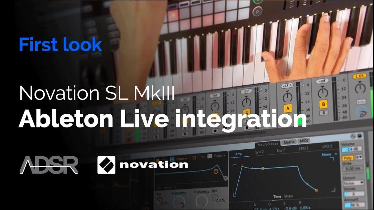 Novation 61 SL MkIII - Ableton Live integration