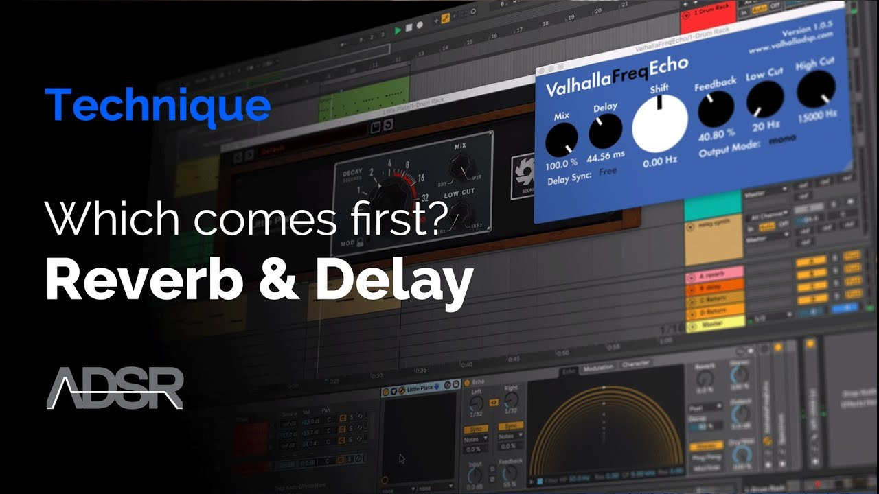 Reverb and delay in series, which comes first?