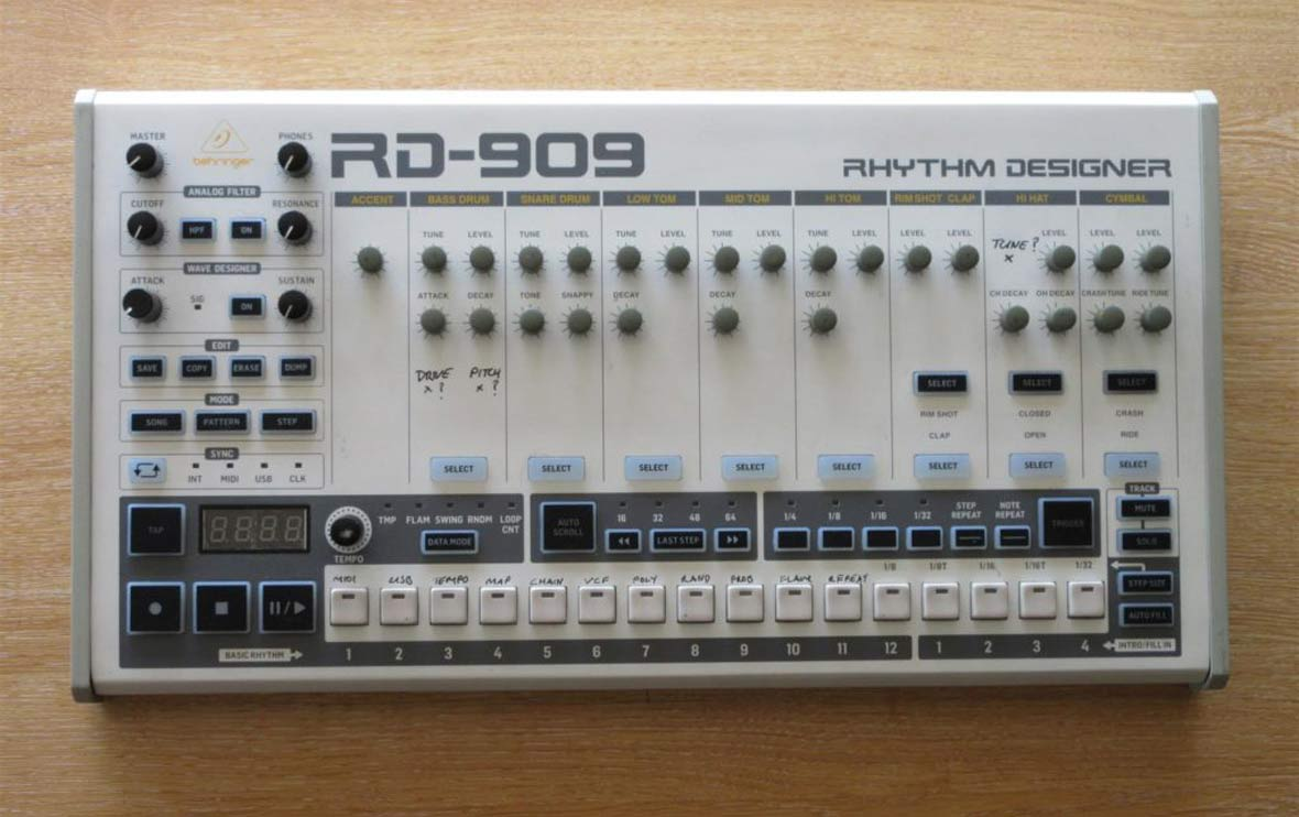 The Behringer RD-909 (TR-909 Clone) Will Cost $299