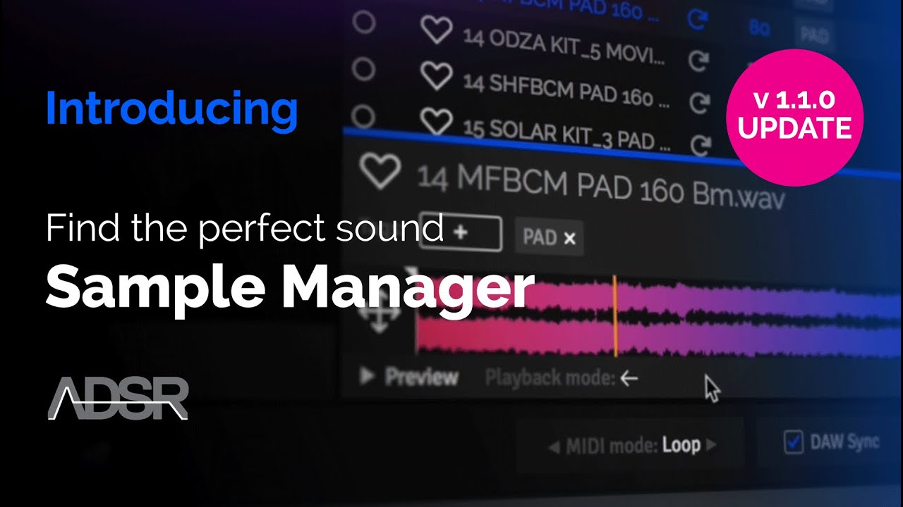 Video related to ADSR Sample Manager