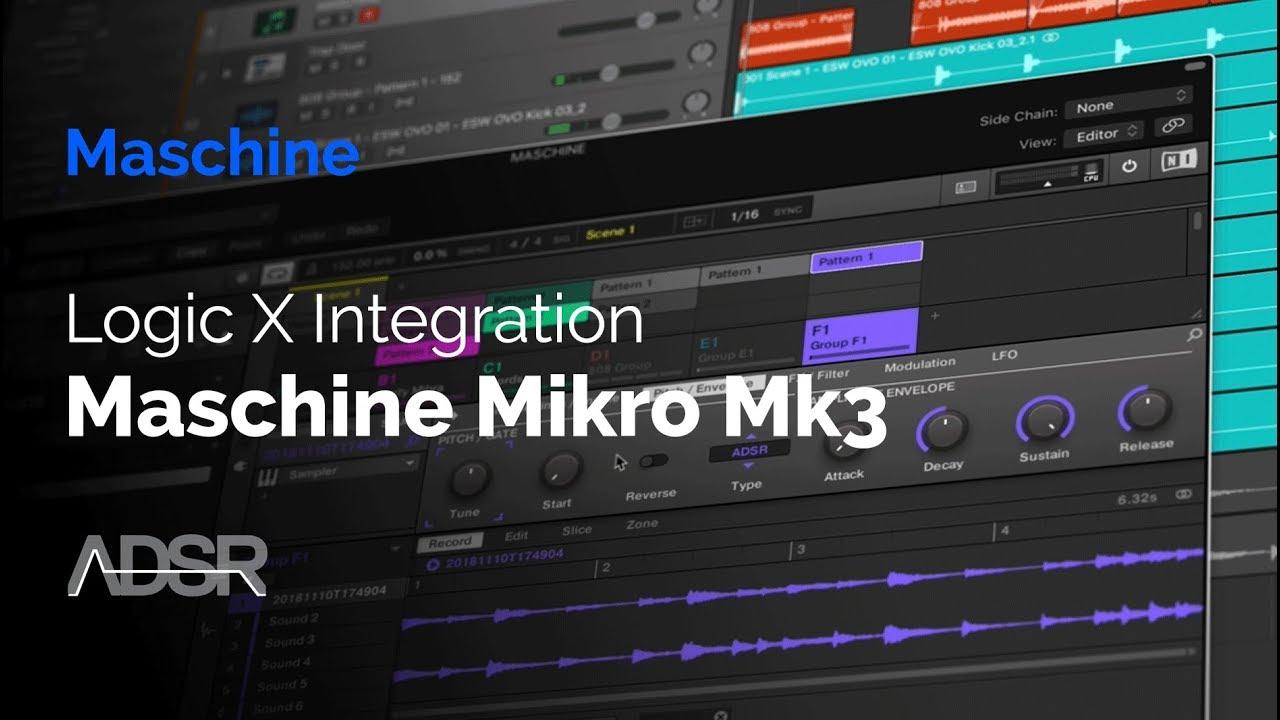 Logic X & Maschine Mikro MK3 Integration