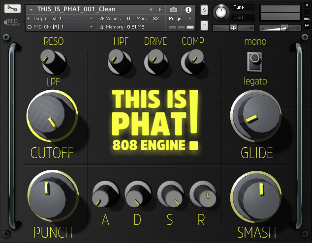 This Is Phat! 808 Engine For Kontakt - ADSR