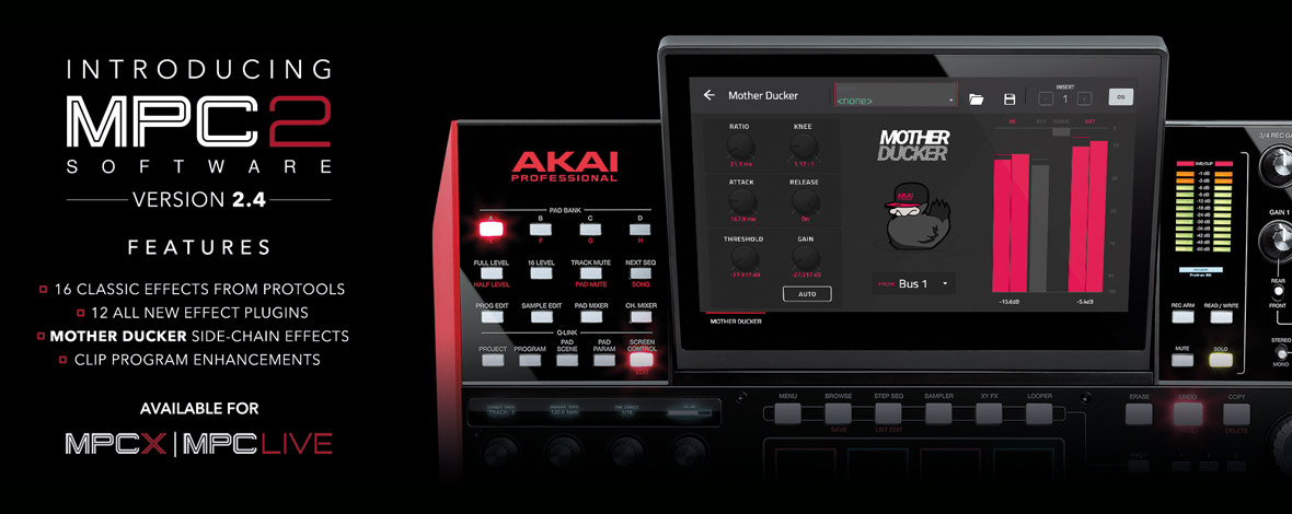 Akai Pro Releases 2 4 Update for MPC, Adds 28 New Effects and Mother