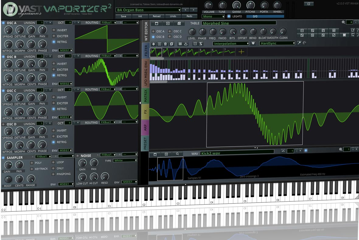 Vaporizer2 Is A Hybrid Wavetable Synth With Low CPU Usage