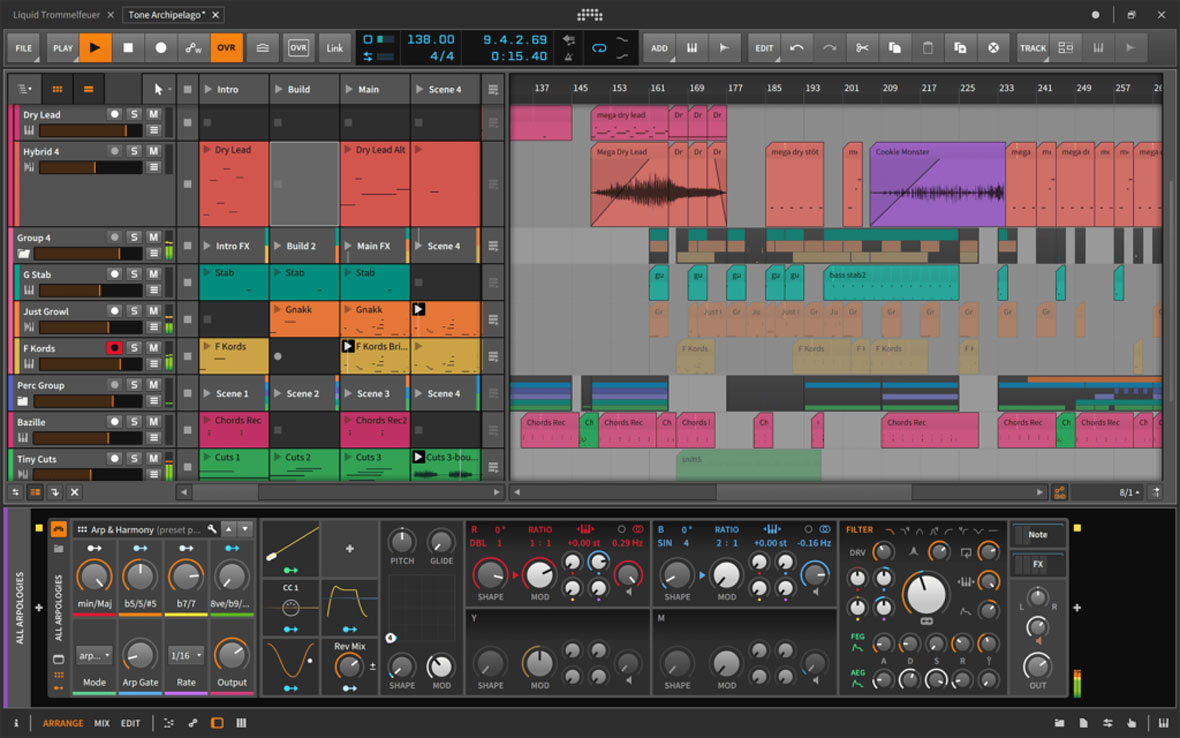 Bitwig Studio 2.5 Improves Plugin Performance and Streamlines Audio Editing