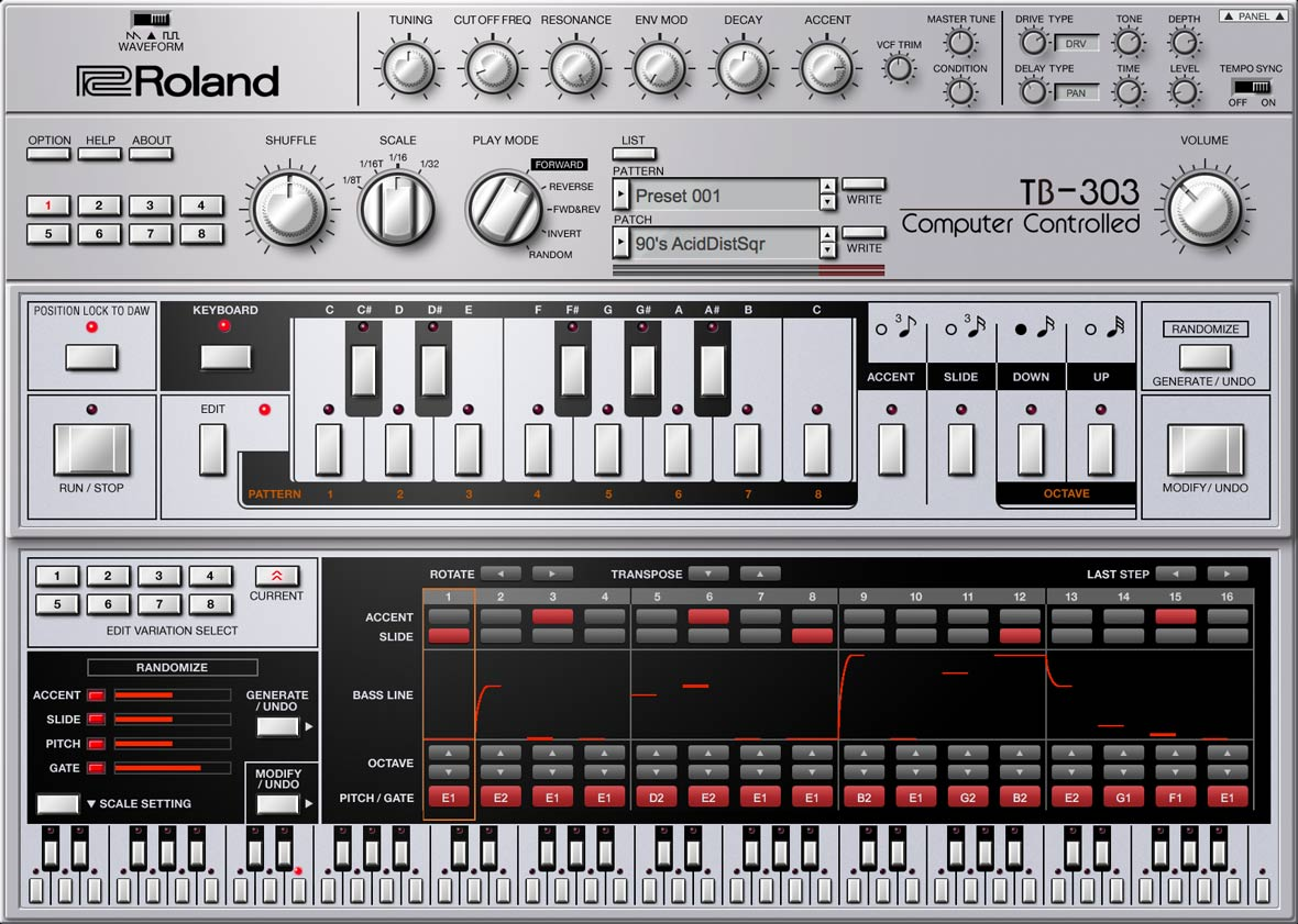Roland Adds VST Emulation of TB-303 Bass Line Synthesizer To Roland Cloud
