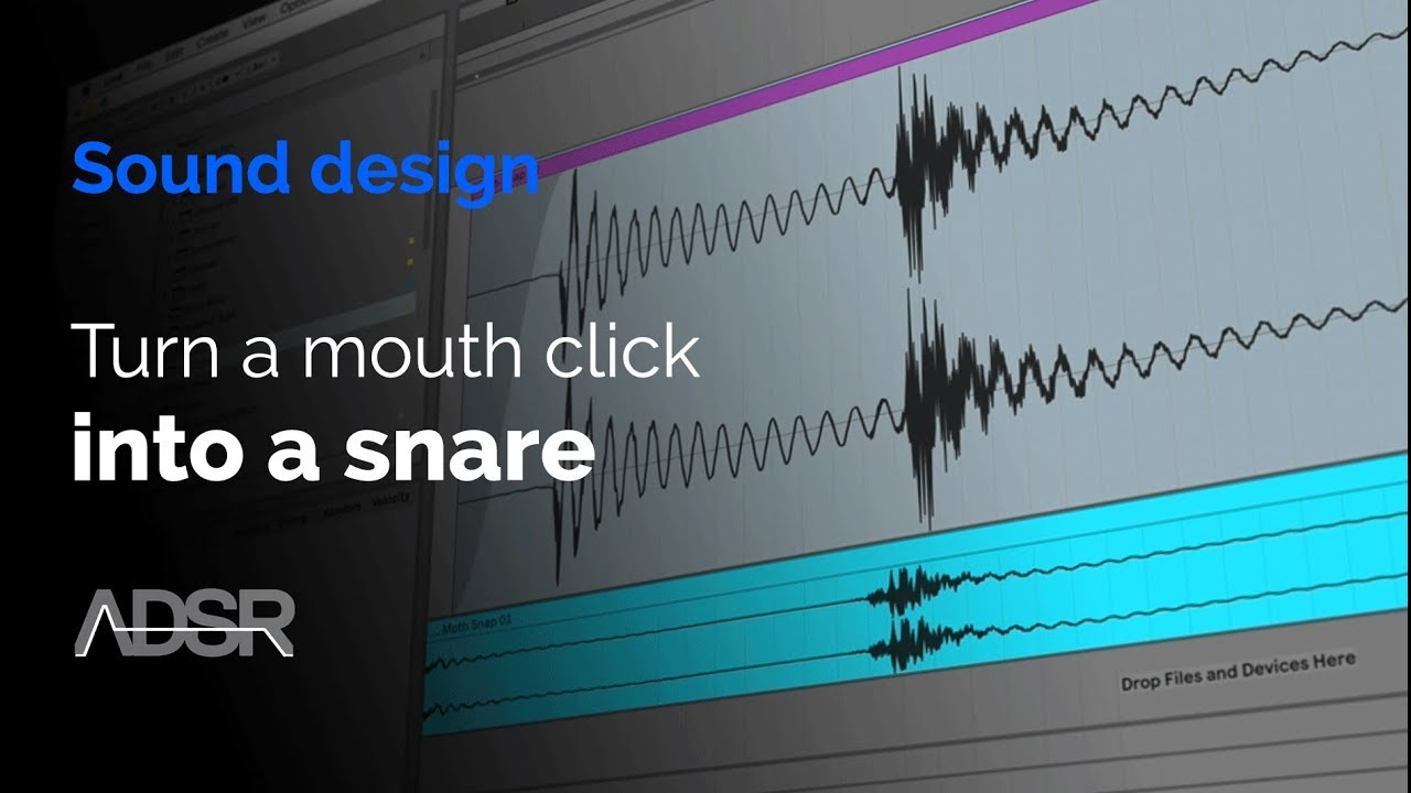 How to turn a mouth click into a snare