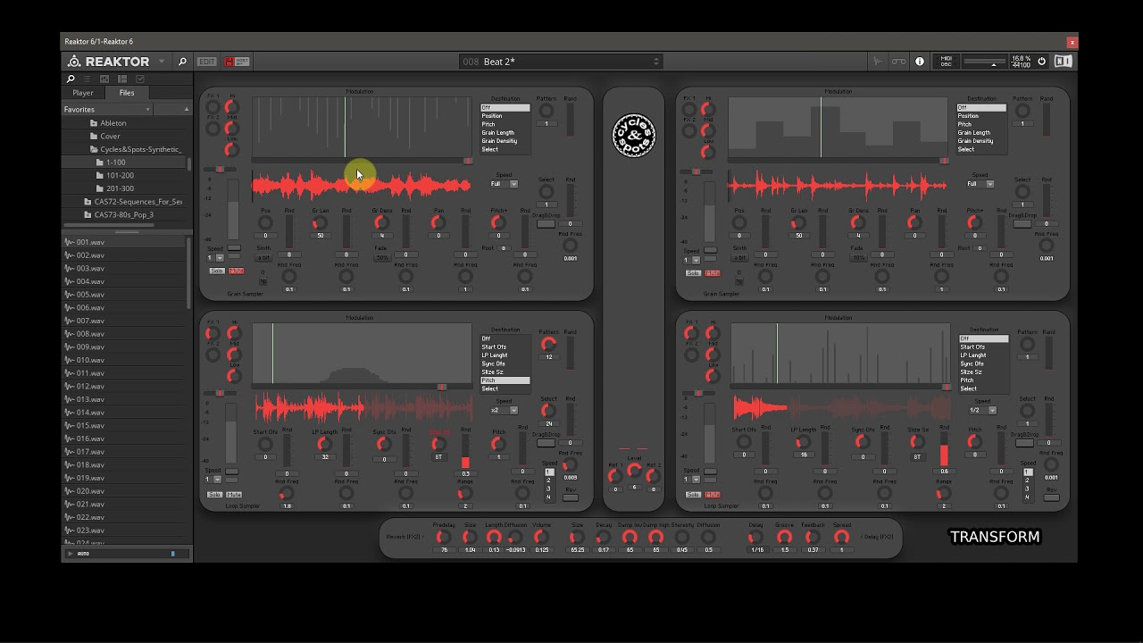Video related to Reaktor Transform