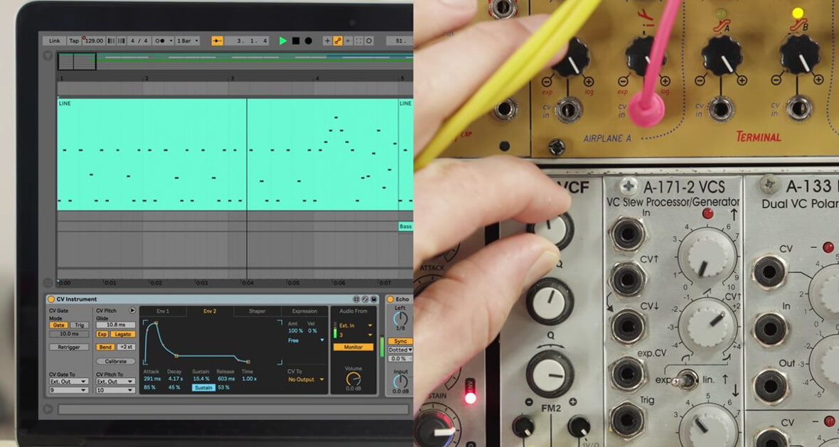Using Ableton's New CV Tools With Modular Synthesizers