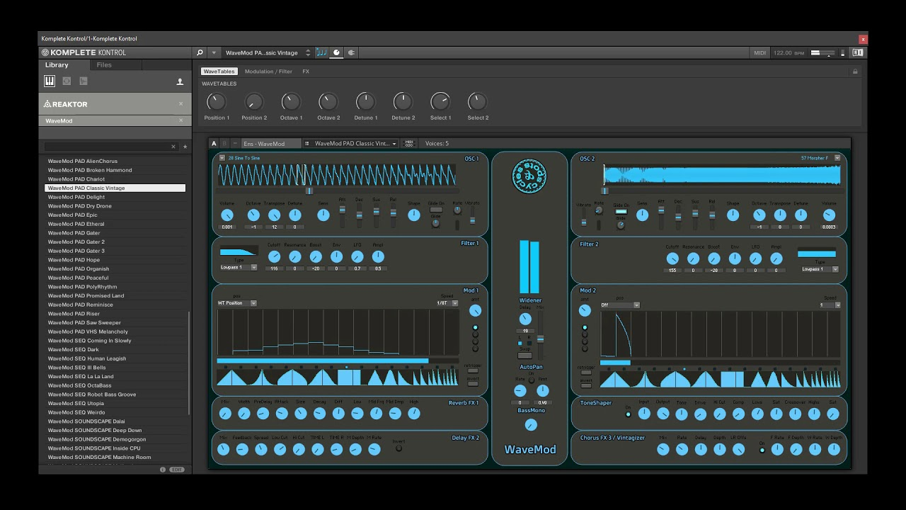 Video related to Reaktor WaveMod