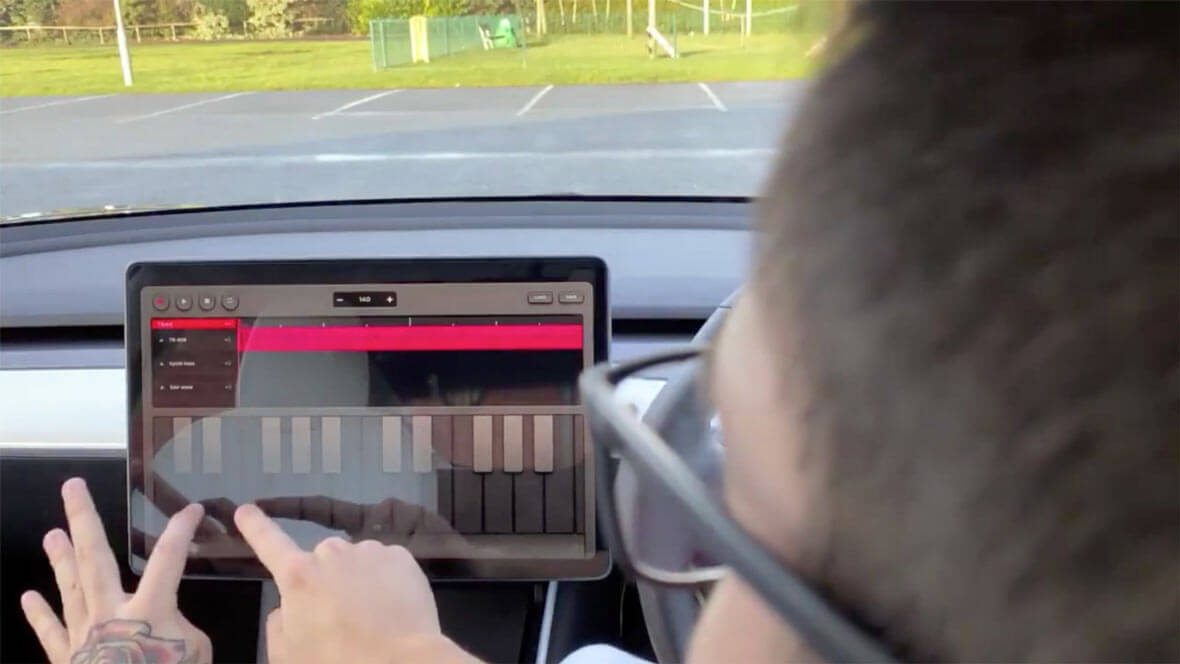 Tesla Introduces Music-Making App For Their Car Dashboards