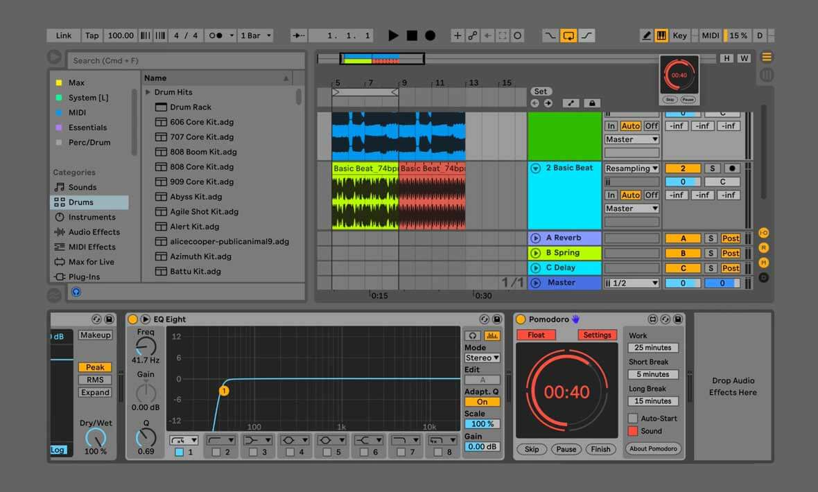 Pomodoro Is A Productivity Timer For Ableton Live