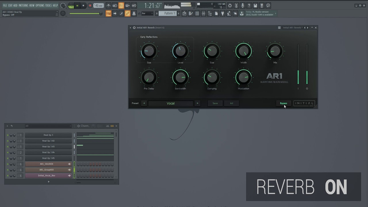Video related to AR1 Reverb