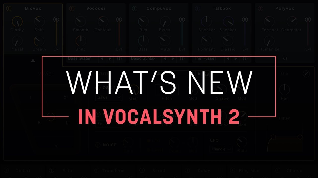 Video related to VocalSynth 2