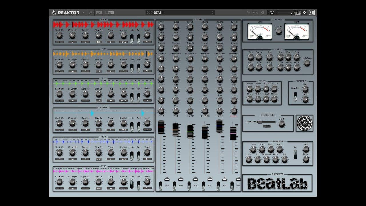 Video related to Reaktor BeatLab
