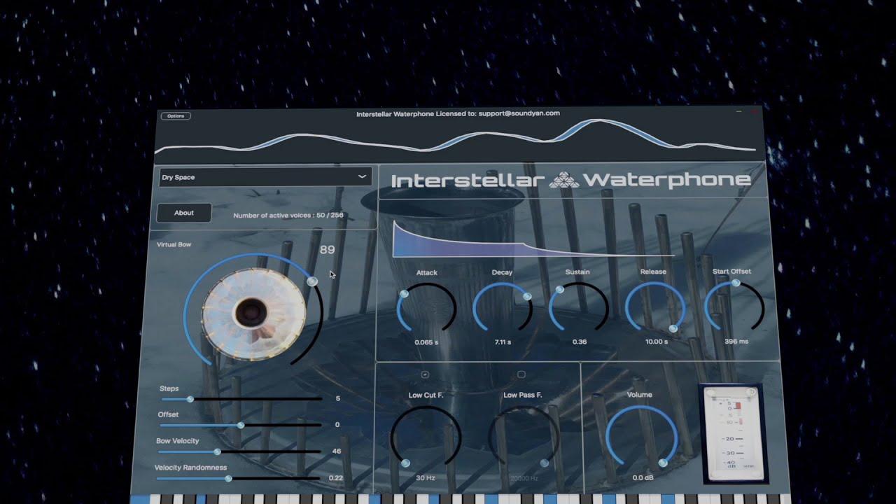 Video related to Interstellar Waterphone