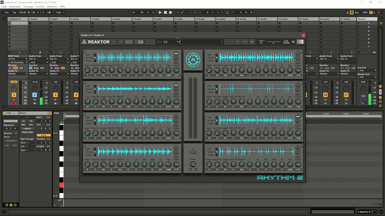 Video related to Reaktor Rhythm 2