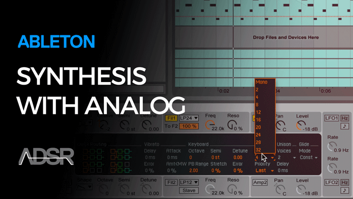 Synthesis with Ableton Analog