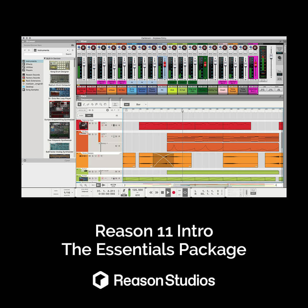 Reason 11 Intro - The essentials package